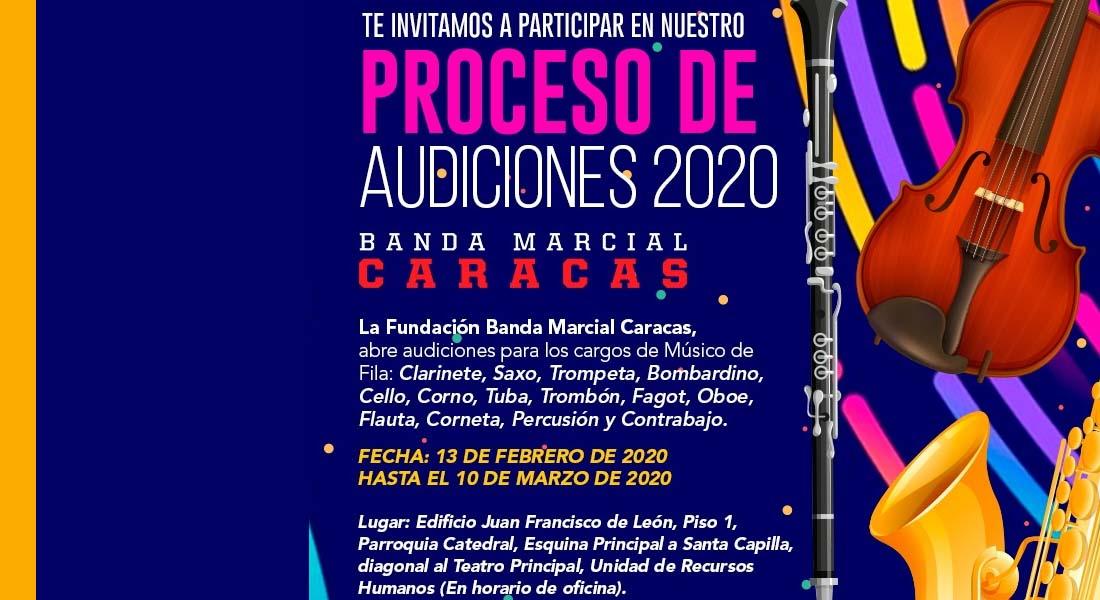 Banda Marcial Caracas abre proceso de audiciones 2020